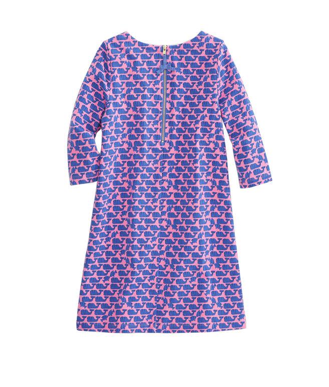 Girls Knit Striped Whales Tisbury Dress