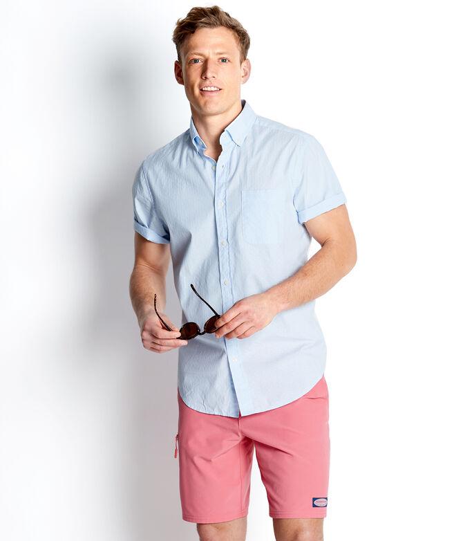 Slim Short-Sleeve Wavine Dobby Murray Shirt