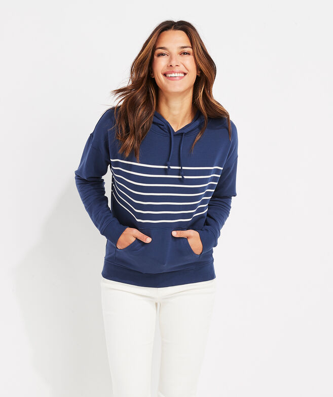 Dreamcloth Placed Stripe Hoodie