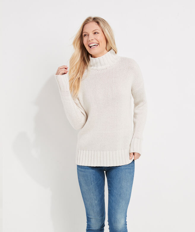 Subtle Shine Holiday Mockneck Sweater