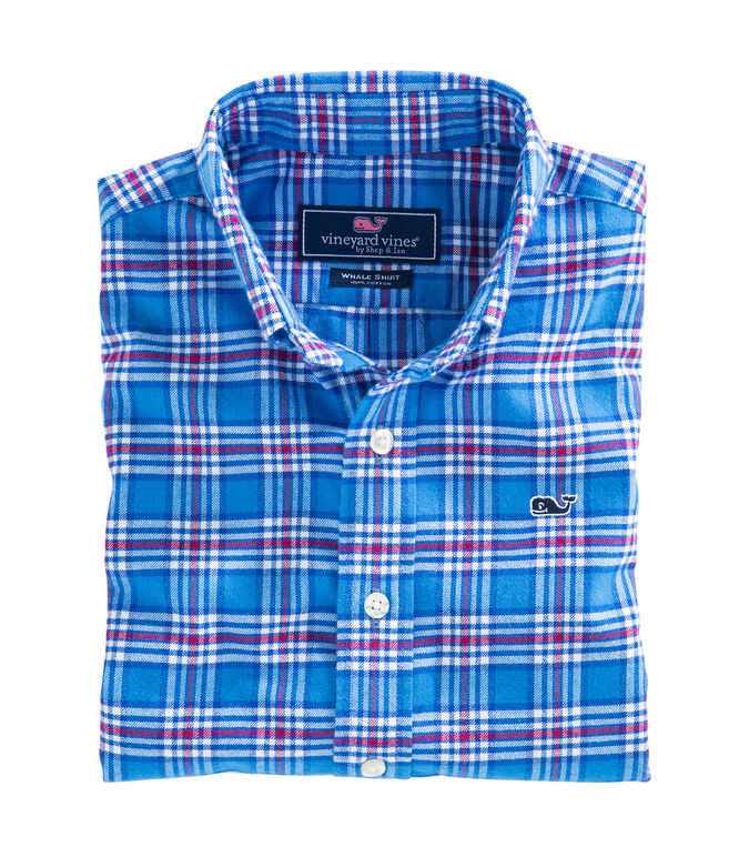 Chandler Pond Plaid Flannel Whale Shirt