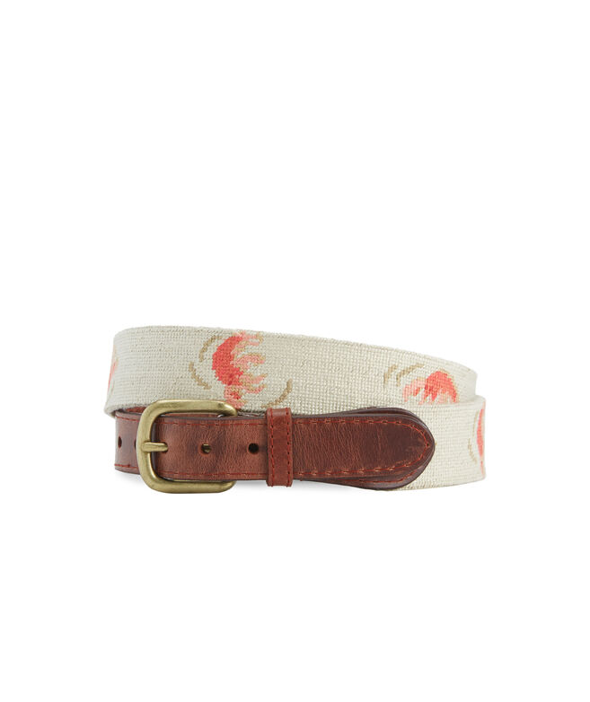 vineyard vines x Smathers & Branson Lobster Roll Needlepoint Belt