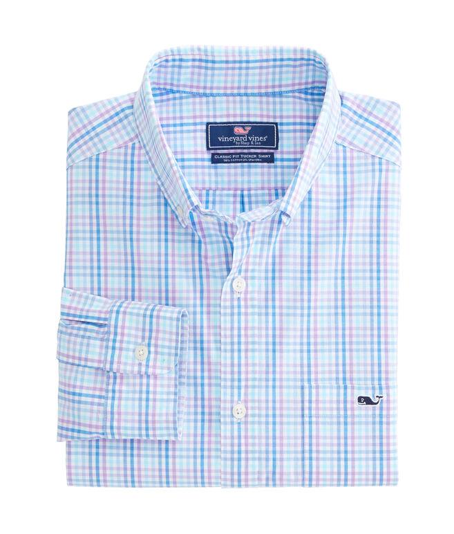 Friendly Island Check Classic Stretch Tucker Shirt