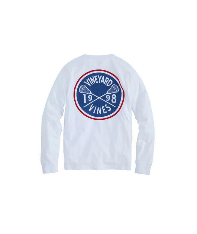 Boys Lacrosse Crest Long-Sleeve Pocket T-Shirt