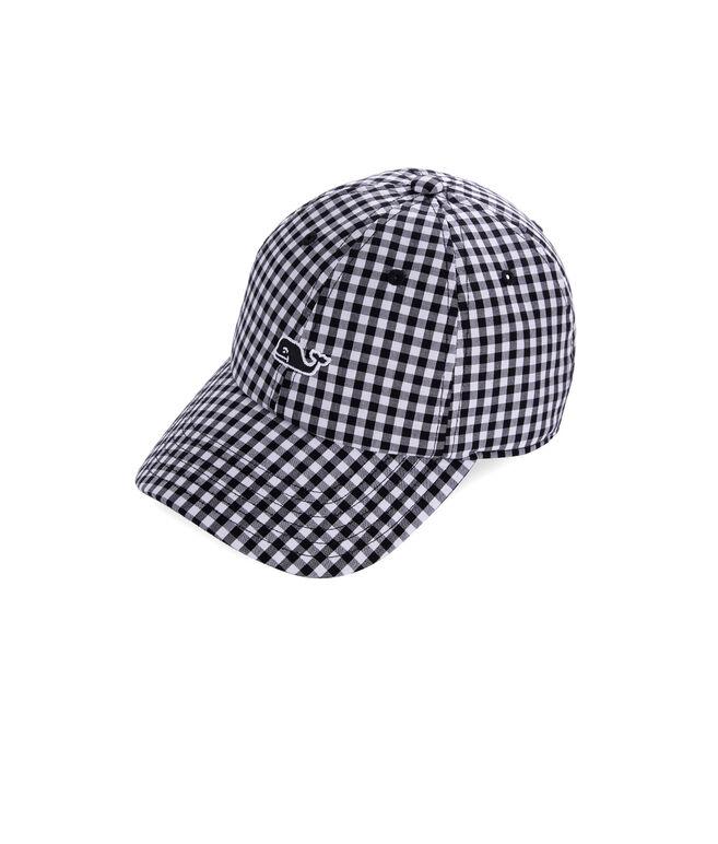 Girls Gingham Baseball Hat
