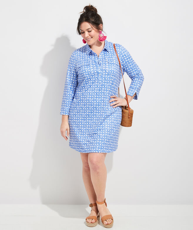 Sankaty Painted Rattan Margo Shirt Dress
