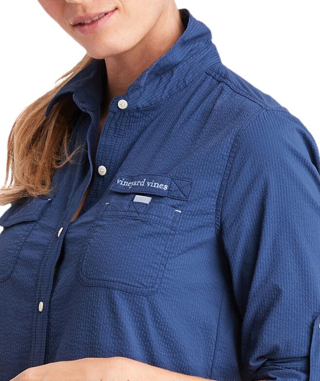 Boathouse Stripe Harbor Shirt Cover-Up
