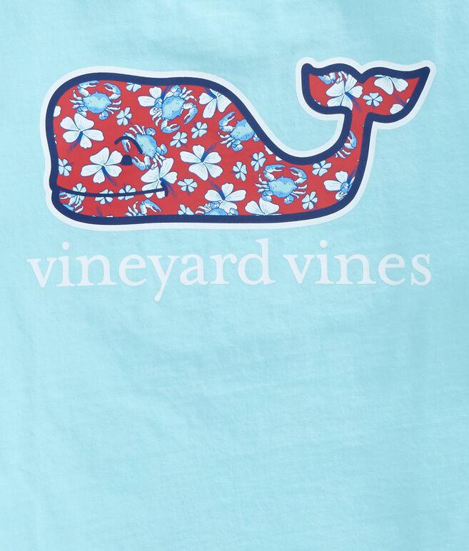 Boys Crab Flowers Whale Fill Pocket T-Shirt