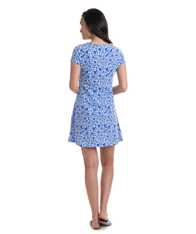 Knit Bahamas Otomi Print Swing Dress