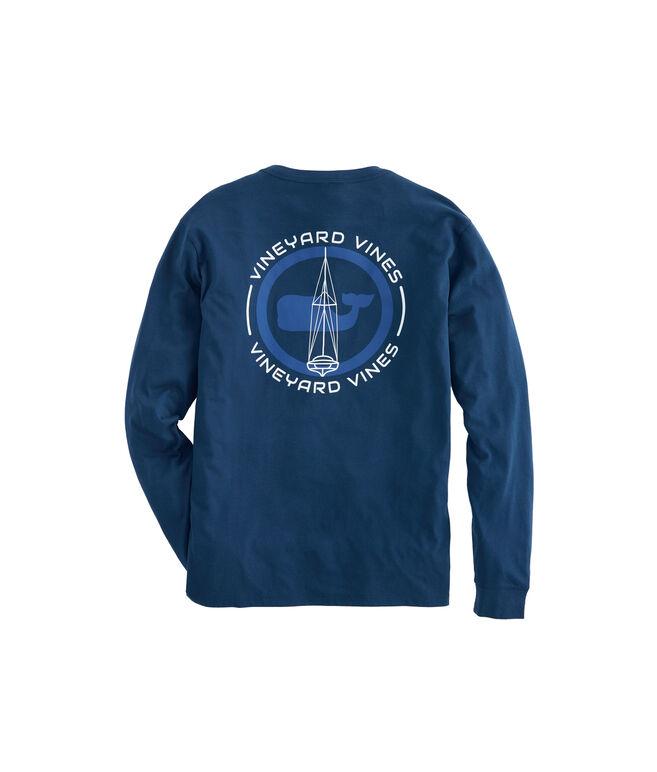 Long-Sleeve Sail Blueprint Pocket T-Shirt