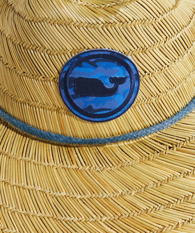 Icon Camo Whale Dot Straw Lifeguard Hat