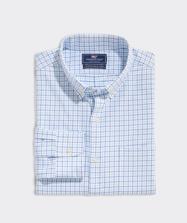 Slim Fit Sapodilla Cotton Performance Murray Button-Down Shirt