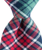 Kennedy Bold Point Plaid Skinny Tie