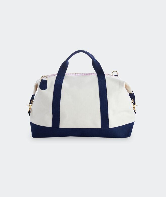 Palm Beach Gingham Weekender Bag