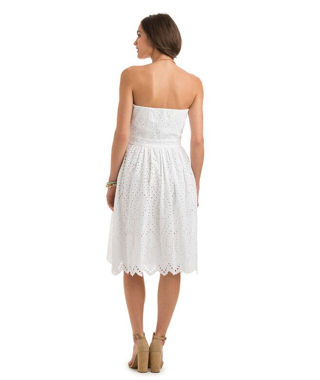 Shop White Eyelet Strapless Dress at vineyard vines