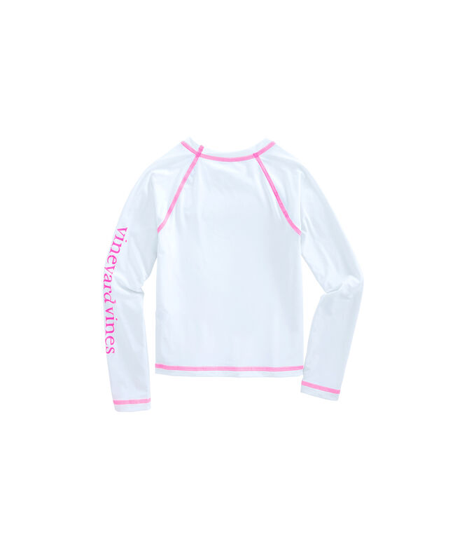 Girls Long-Sleeve Vintage Whale Rashguard