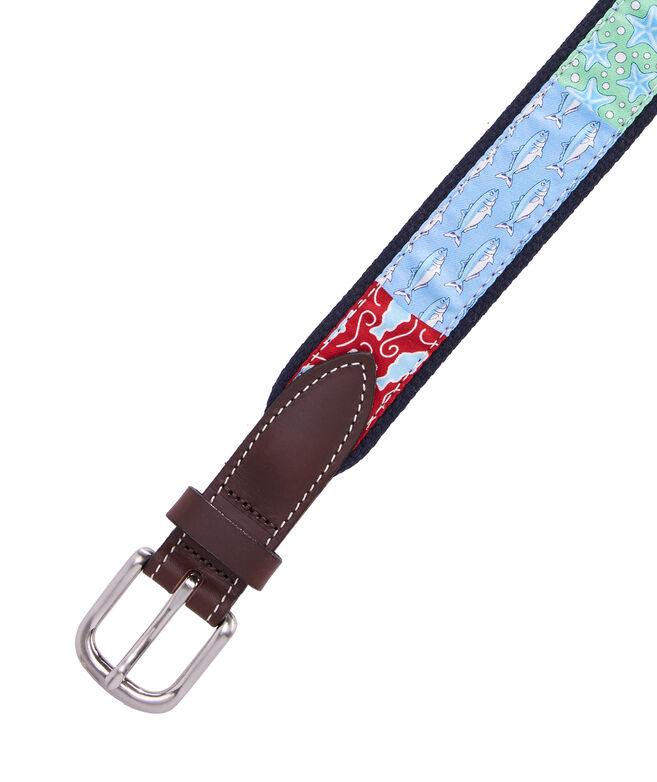 Boys Patchwork Canvas Club Belt