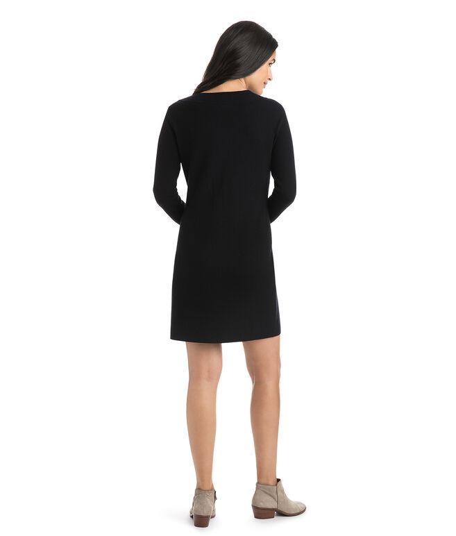 Lace-Up Sweater Dress