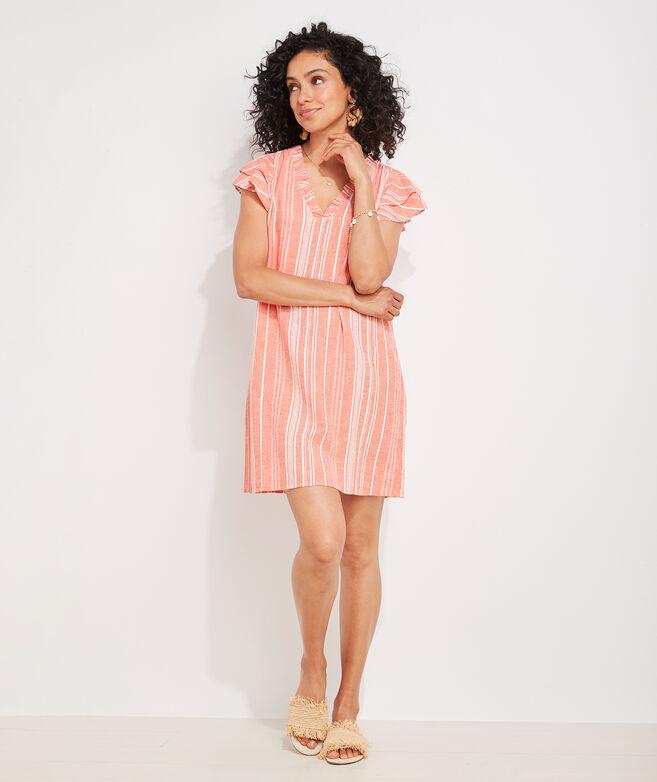 Gauzy Stripe Vineyard Tunic Dress