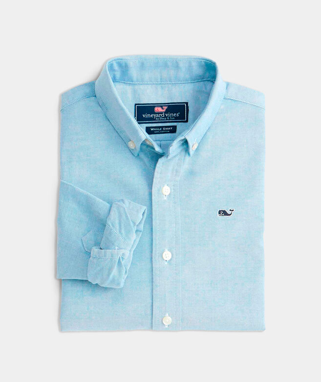 Kids' Solid Oxford Whale Shirt