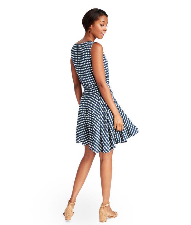 Gingham Tie Waist Dress