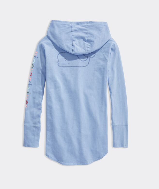 Girls' Vintage Whale Hoodie Coverup