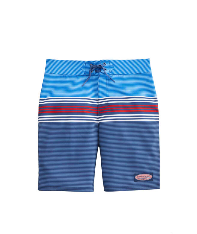 Boys Topsail Striped Board Shorts