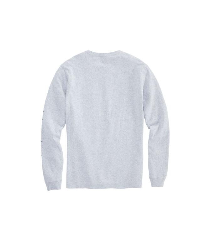 Long-Sleeve Bay Floral Whale Dot Pocket T-Shirt