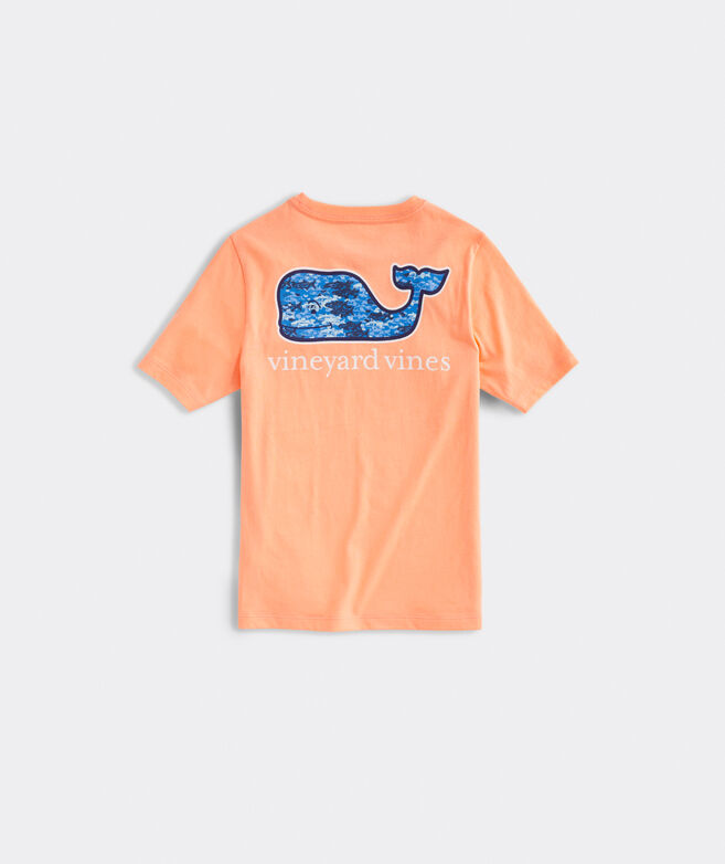 Boys' Tri Fish Camo Whale Short-Sleeve Pocket Tee