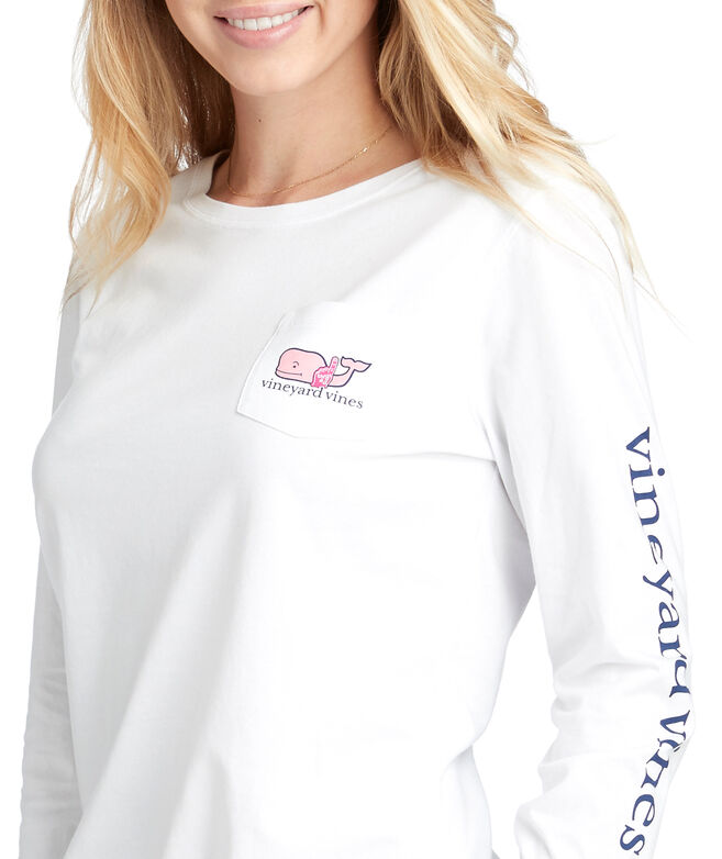 164645442 Shop Long-Sleeve Cheer Whale Pocket Tee at vineyard vines