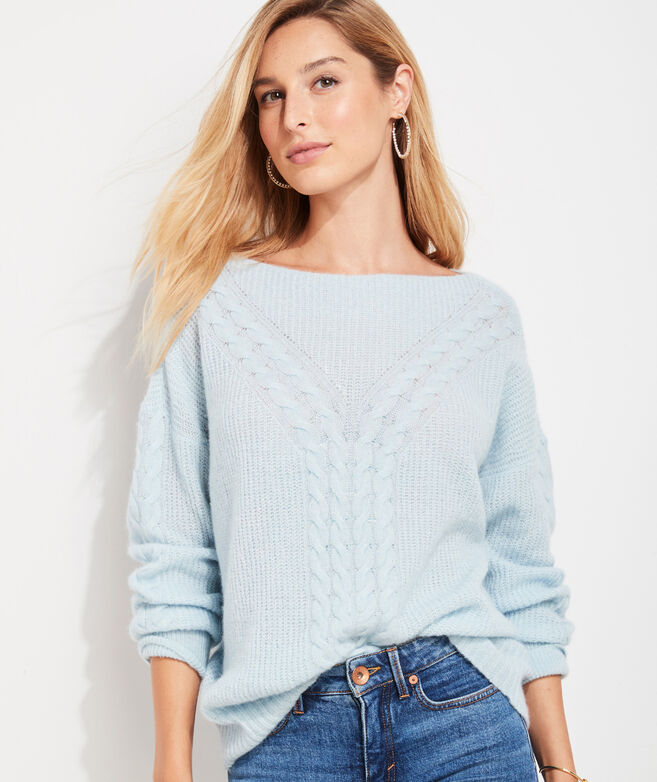 Cozy Cable Boatneck Sweater