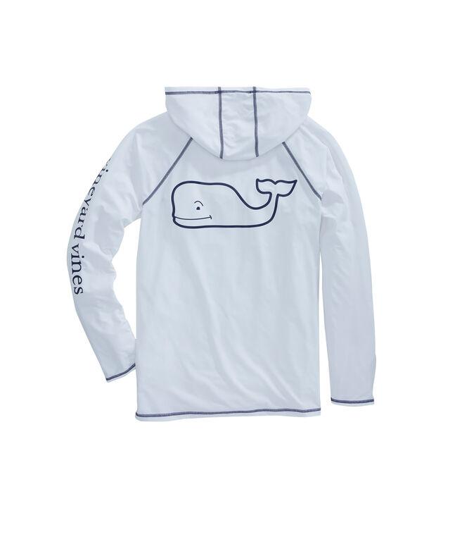 Long-Sleeve Performance Vintage Whale Raglan Hoodie T-Shirt