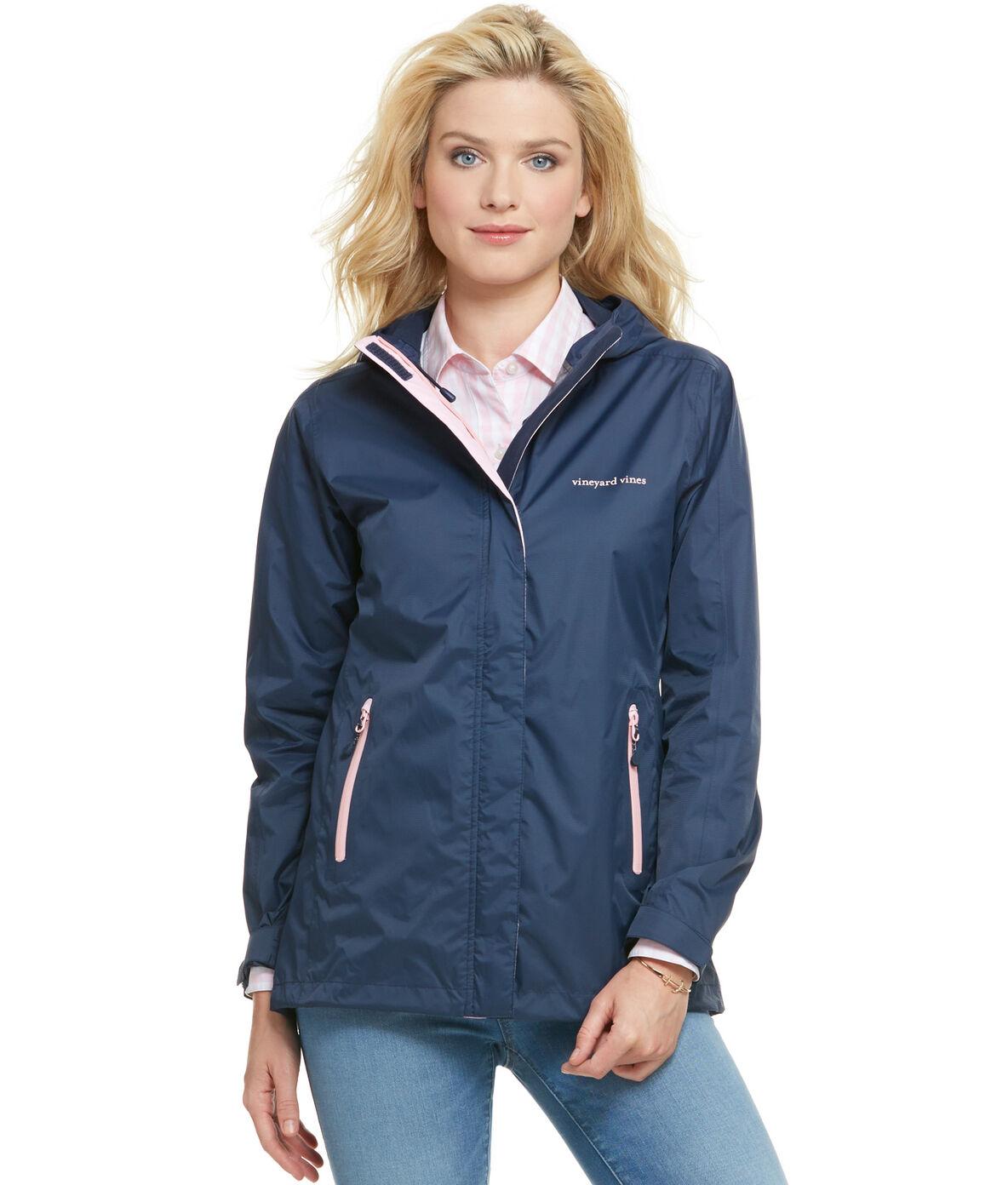 Shop Stow & Go Rain Coat at vineyard vines