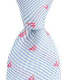 Sailboat On Stripe Kennedy Tie