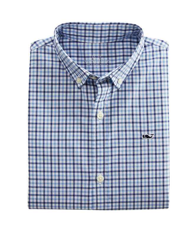 Boys Amelia Gingham Whale Shirt