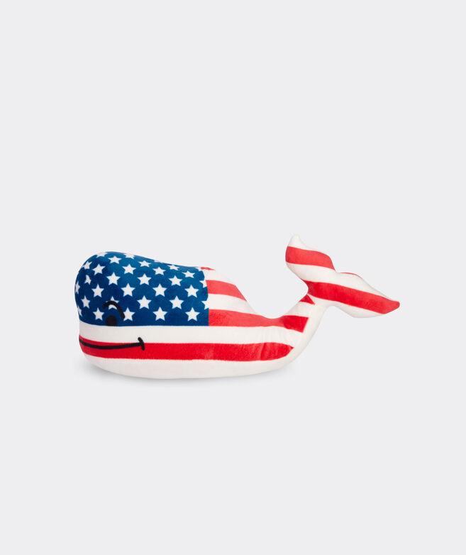 American Flag Plush Whale