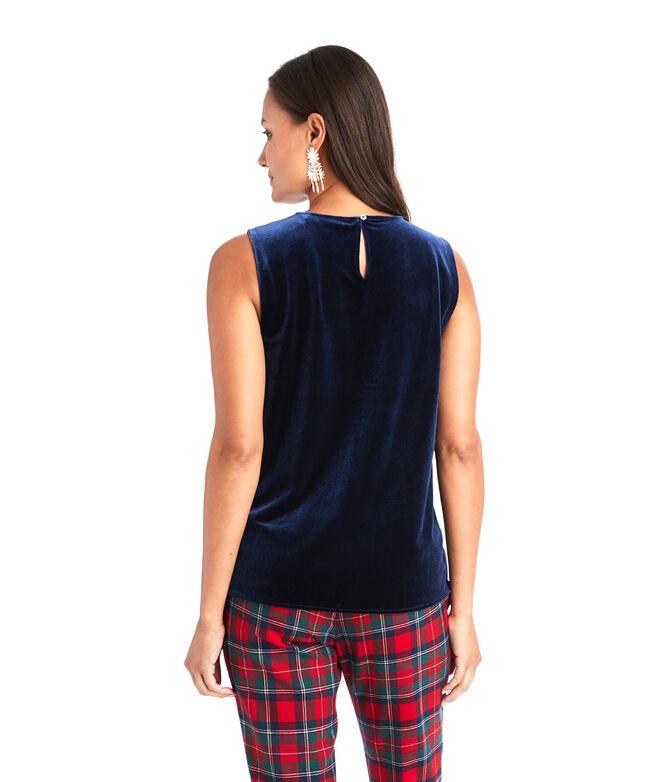 Knit Velvet Shell Pullover