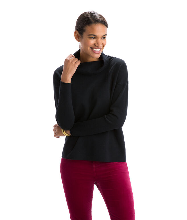 Double Jersey Funnel Neck Sweater