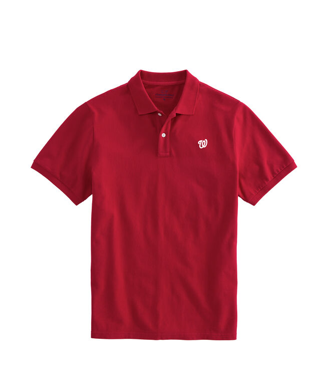Washington Nationals Stretch Pique Polo
