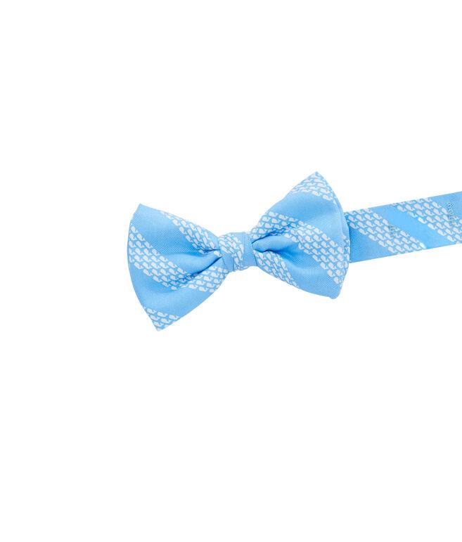 Boys Whale Rep Stripe Bow Tie