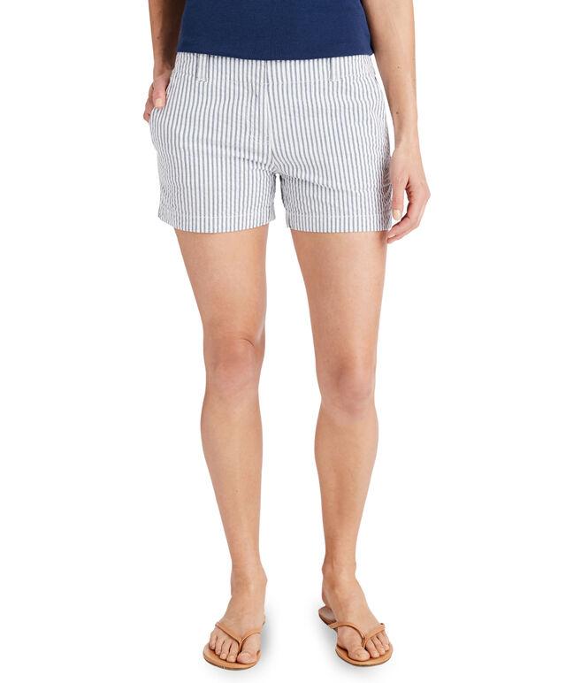 3 1/2 Inch Vineyard Seersucker Every Day Shorts