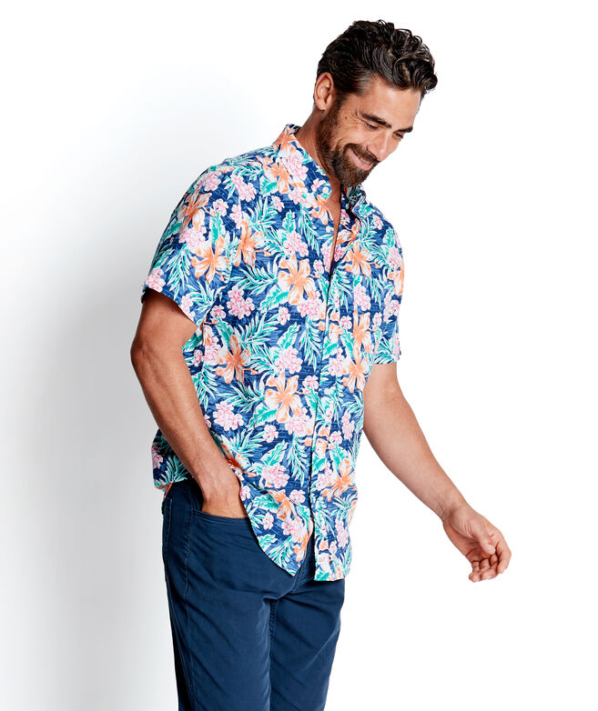 Classic Short-Sleeve Guana Floral Murray Shirt