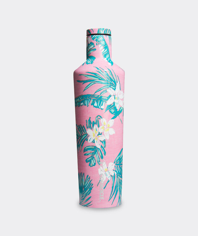 Pink Tropical Flowers Corkcicle Canteen