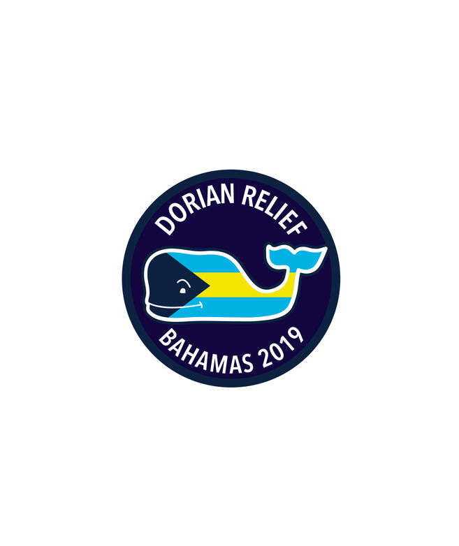 Bahamas Hurricane Dorian Relief Circle Sticker
