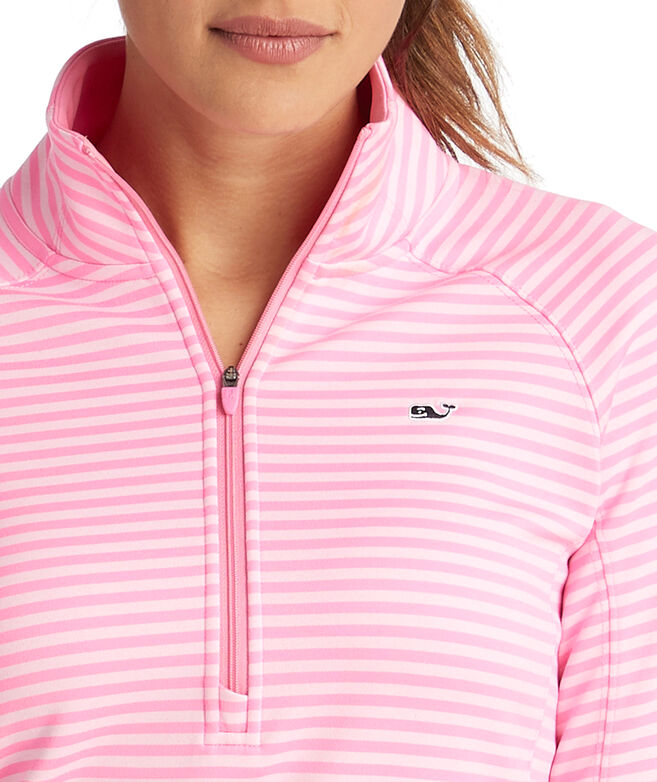 Striped Sport 1/2-Zip