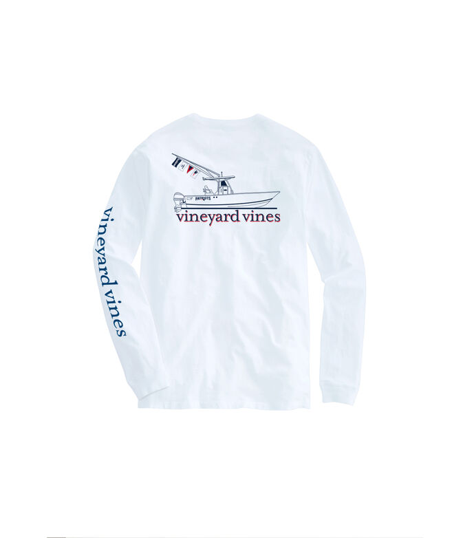 New England Patriots Center Console Long-Sleeve Men's T-shirt