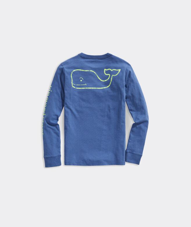 Boys' Vintage Whale Long-Sleeve Pocket Tee