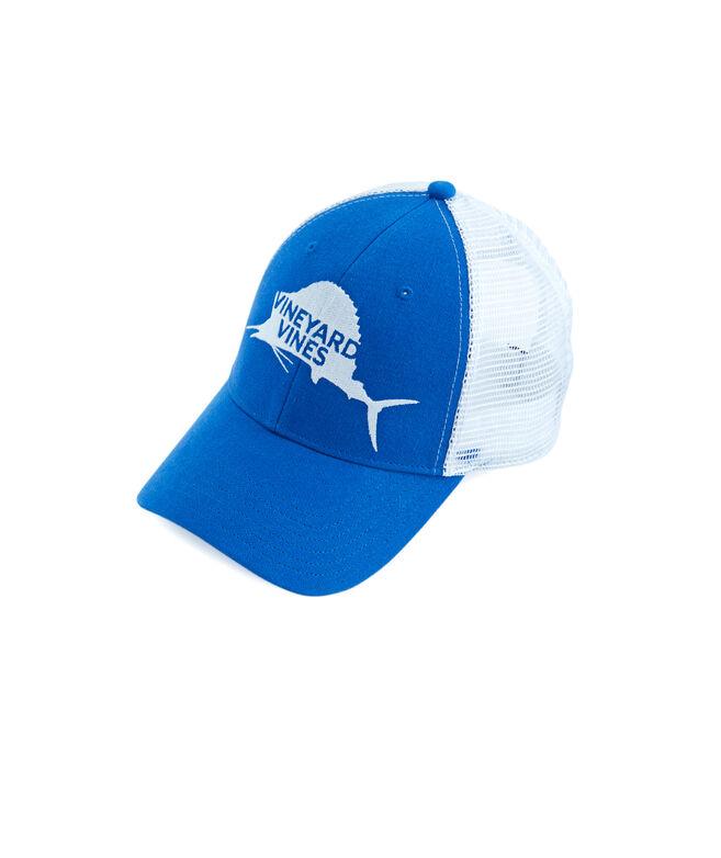 d86f99b4ca931 Shop Boys Sailfish Trucker Hat at vineyard vines