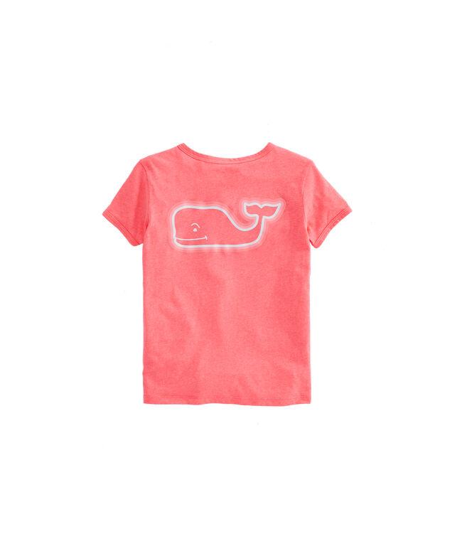 Girls Radiant Whale Short-Sleeve Island Ringer Tee