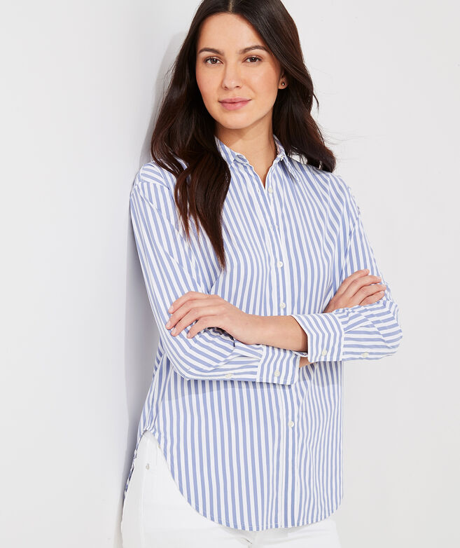 Striped Performance Button-Down